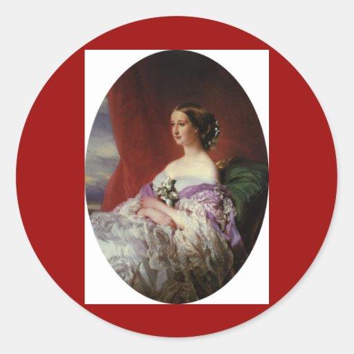 Retrato de Francisco Xaver Winterhalter Pegatina Redonda