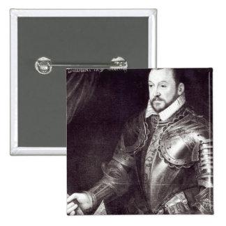 Retrato de Francois I, duque de Montmorency Pin Cuadrado