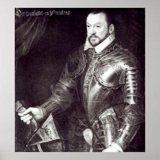 Retrato de Francois I, duque de Montmorency Póster
