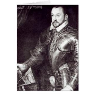 Retrato de Francois I, duque de Montmorency Tarjeta De Felicitación