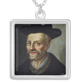 Retrato de Francois Rabelais Colgante Cuadrado