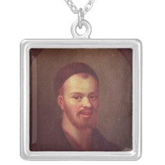 Retrato de Francois Rabelais, escritor satírico fr Colgante Cuadrado