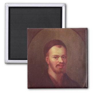 Retrato de Francois Rabelais, escritor satírico fr Imán Cuadrado