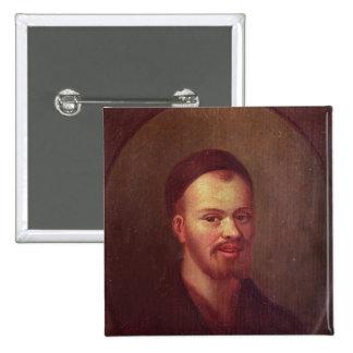 Retrato de Francois Rabelais, escritor satírico fr Pin Cuadrada 5 Cm