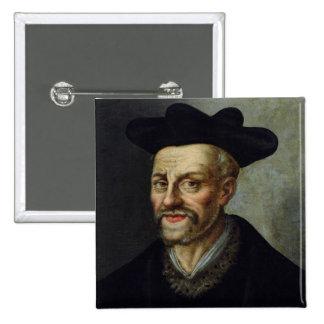 Retrato de Francois Rabelais Pin Cuadrada 5 Cm