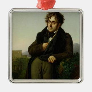 Retrato de Francois Rene Vicomte Ornamento Para Arbol De Navidad