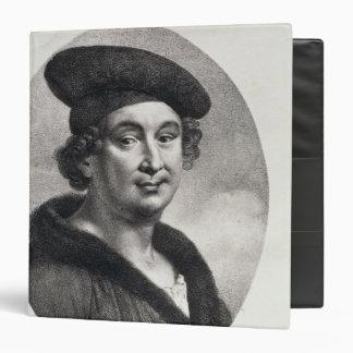 """Retrato de Francois Villon Carpeta 1 1/2"""""""