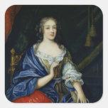 Retrato de Francoise-Louise de la Baume le Blanc Pegatina Cuadrada