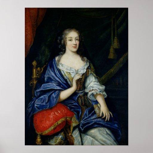 Retrato de Francoise-Louise de la Baume le Blanc Póster