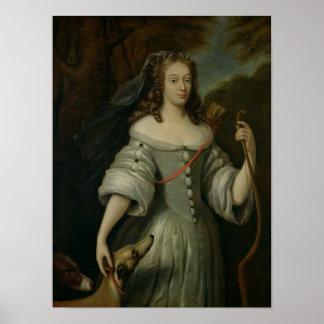 Retrato de Francoise Louise de la Baume Póster
