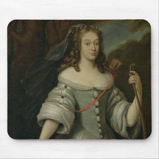 Retrato de Francoise Louise de la Baume Alfombrilla De Ratones