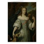 Retrato de Francoise Louise de la Baume Tarjeton