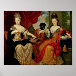 Retrato de Francoise-Marie de Borbón Póster
