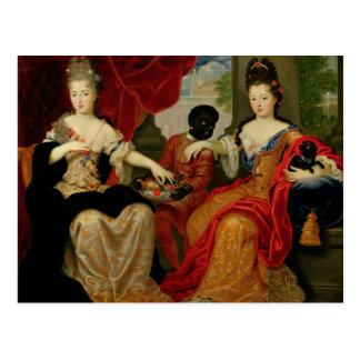 Retrato de Francoise-Marie de Borbón Tarjetas Postales