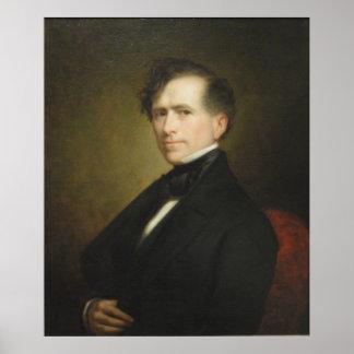 Retrato de FRANKLIN PIERCE de George P.A. Healy Póster