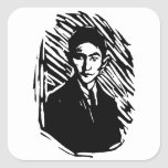 Retrato de Franz Kafka Pegatina Cuadrada