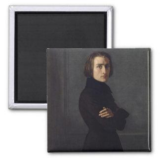Retrato de Franz Liszt 1839 Imán Cuadrado