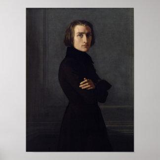 Retrato de Franz Liszt 1839 Poster