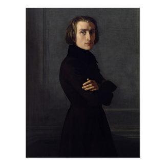 Retrato de Franz Liszt 1839 Tarjetas Postales