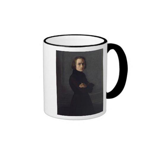 Retrato de Franz Liszt 1839 Taza A Dos Colores