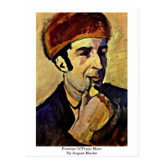 Retrato de Franz Marc, en agosto Macke Postales