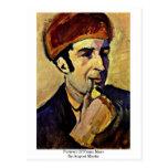 Retrato de Franz Marc, en agosto Macke Tarjetas Postales