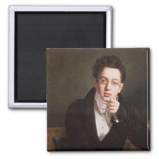 Retrato de Franz Schubert, compositor austríaco Imán Cuadrado
