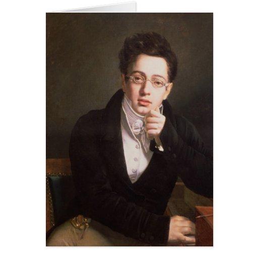 Retrato de Franz Schubert, compositor austríaco Tarjeta De Felicitación