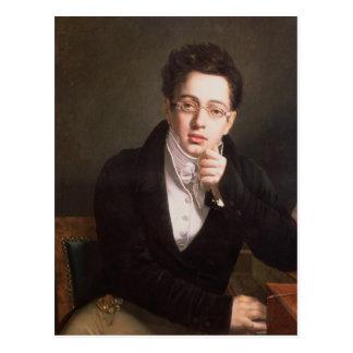 Retrato de Franz Schubert, compositor austríaco Postales