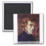 Retrato de Frédéric Chopin Imán Para Frigorifico