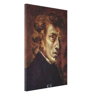 Retrato de Frédéric Chopin Impresiones De Lienzo