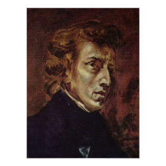 Retrato de Frédéric Chopin Póster