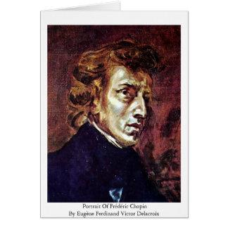 Retrato de Frédéric Chopin Tarjeta De Felicitación