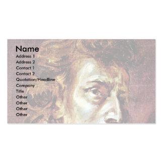 Retrato de Frédéric Chopin Tarjetas De Visita
