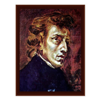 Retrato de Frédéric Chopin Postal