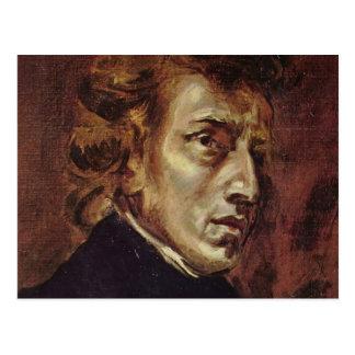 Retrato de Frédéric Chopin Tarjetas Postales