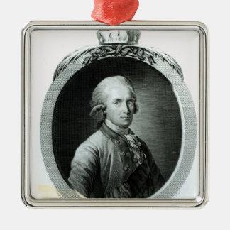 Retrato de Frederick Augustus I Adorno Navideño Cuadrado De Metal
