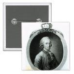Retrato de Frederick Augustus I Pin Cuadrada 5 Cm