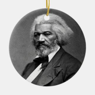 Retrato de Frederick Douglass de George K. Warren Adorno Navideño Redondo De Cerámica