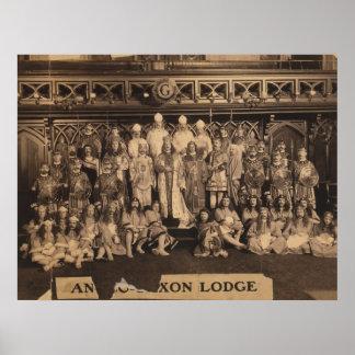 Retrato de Freemasons de la casa de campo anglosaj Poster