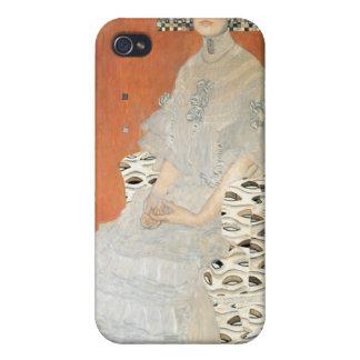 Retrato de Fritza Riedler - Gustavo Klimt iPhone 4 Cárcasa
