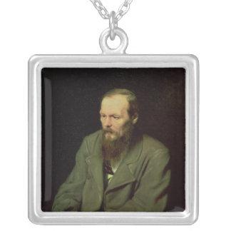 Retrato de Fyodor Dostoyevsky 1872 Colgante Cuadrado