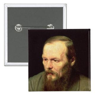 Retrato de Fyodor Dostoyevsky 1872 Pin Cuadrado