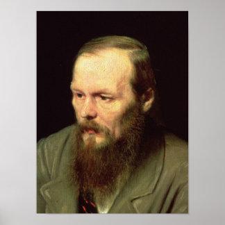 Retrato de Fyodor Dostoyevsky 1872 Póster