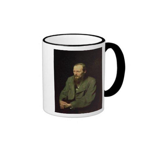 Retrato de Fyodor Dostoyevsky 1872 Tazas De Café
