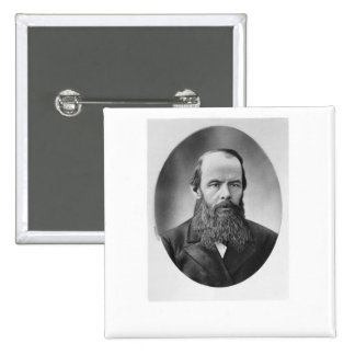 Retrato de Fyodor Mikhailovich Dostoyevsky Pin Cuadrado