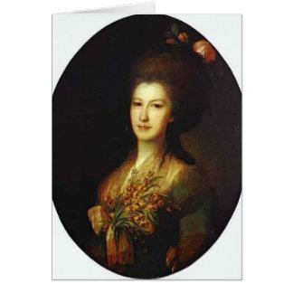 Retrato de Fyodor Rokotov- de Elizaveta Santi Tarjeta De Felicitación
