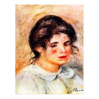Retrato de Gabrielle de Pedro Renoir Tarjeta Postal