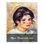 Retrato de Gabrielle de Pierre-Auguste Renoir Tarjetas Informativas