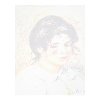 Retrato de Gabrielle de Pierre-Auguste Renoir Membrete A Diseño